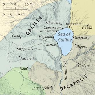 Map of Sea of Galilee